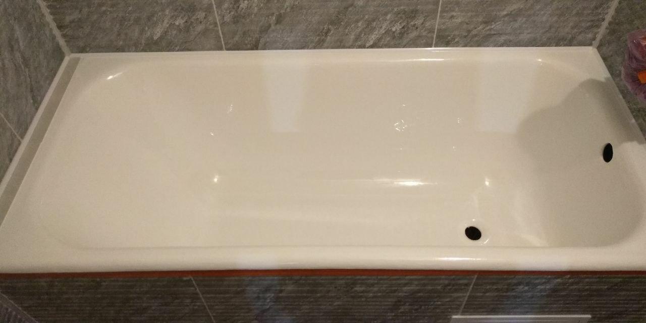 реставрация стальной ванны фотографии